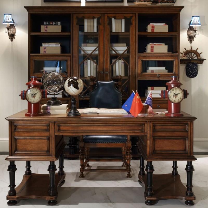 七彩人生实木儿童书房套书桌椅书柜-哥伦比亚