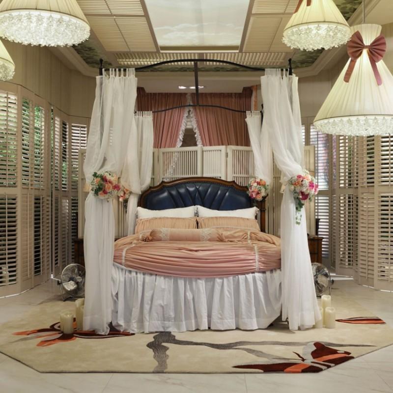 七彩人生实木儿童单人床床头柜衣柜学习桌书桌-梦回爱丽丝