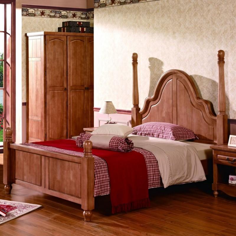 七彩人生实木儿童实木单人床床头柜衣柜学习桌-艾瑟儿
