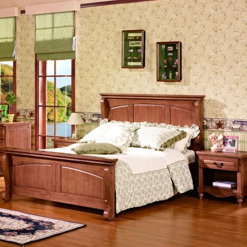 七彩人生实木儿童套房实木单人床床头柜衣柜学习桌-水上伯顿