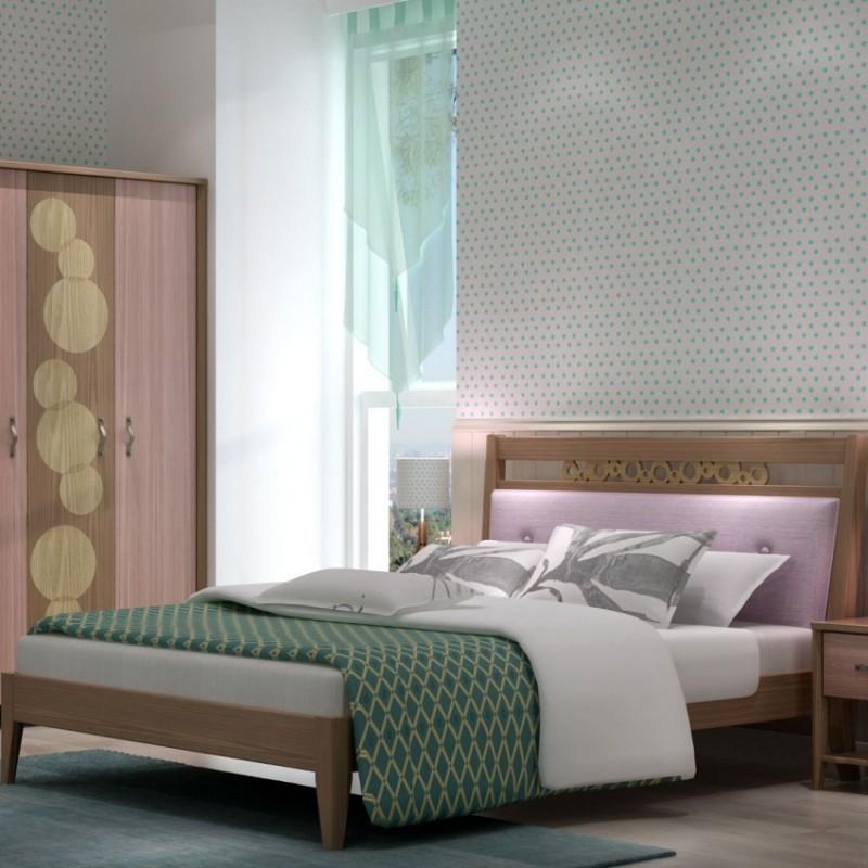 七彩人生儿童套房实木家具单人床衣柜床头柜学习桌书桌-爱的诗篇