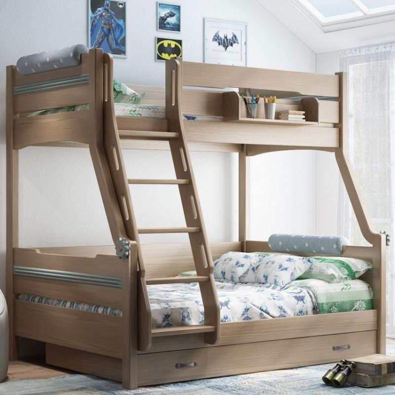 七彩人生儿童套房实木家具单人床衣柜床头柜学习桌书桌-森林卫士