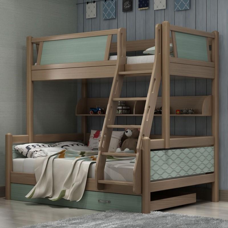 七彩人生儿童套房实木家具单人床衣柜床头柜学习桌书桌-寻梦蓝湖
