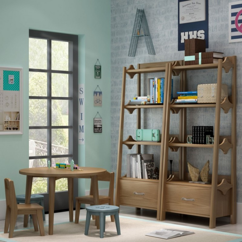 七彩人生儿童套房实木家具学习桌小书桌