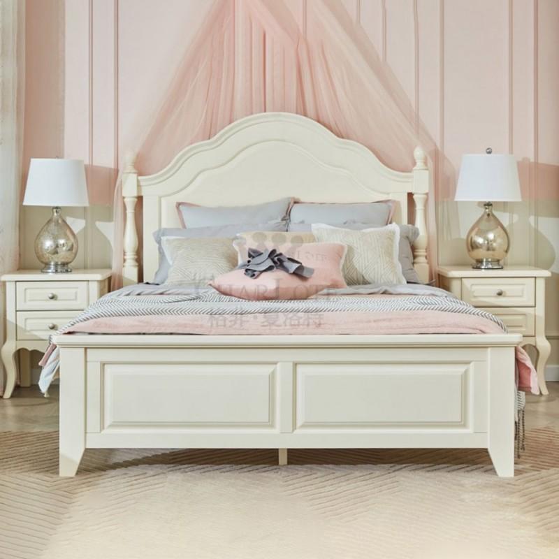 格非·夏洛特儿童实木家具卧室单人床01-XA-03+床头柜 17-XBC-02床头柜