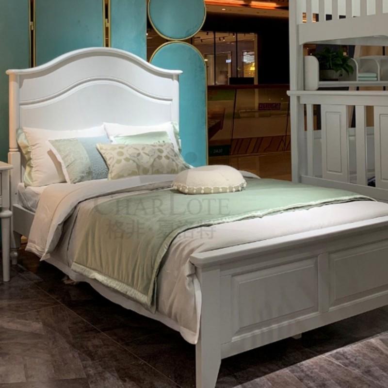 格非·夏洛特儿童实木家具卧室单人床02-XA-04床