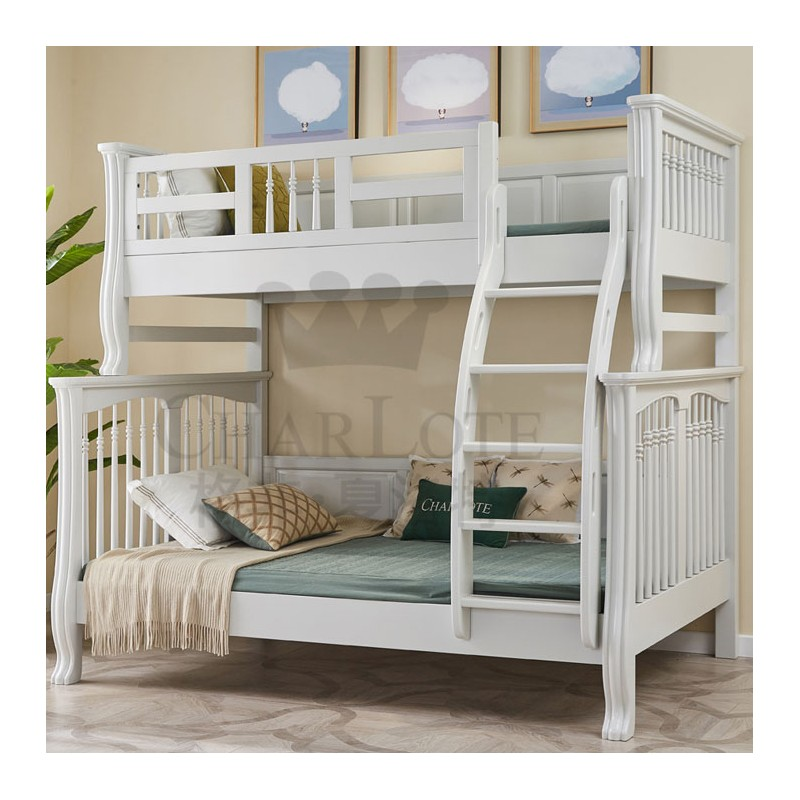 格非·夏洛特儿童实木家具卧室单人床07-XA-001双层床