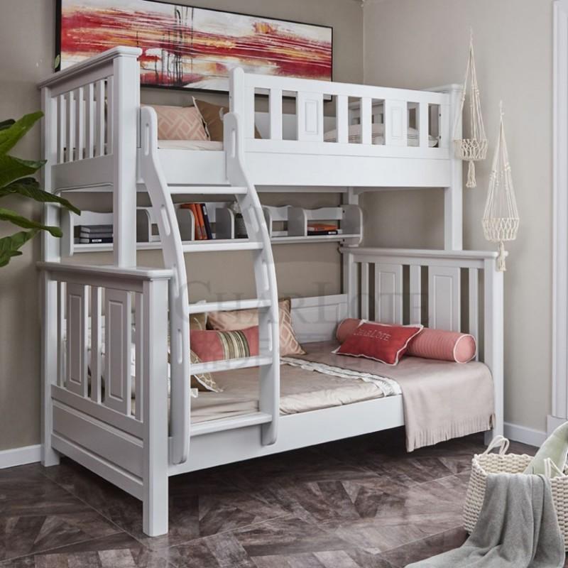格非·夏洛特儿童实木家具卧室单人床09-XA-004双层床