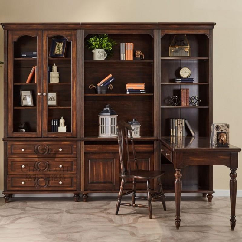 格非·夏洛特儿童实木家具书房套71-XC-07书柜+78-XEY-01书椅-咖