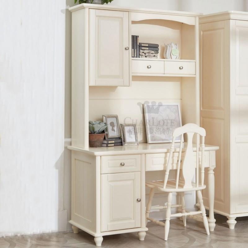 格非·夏洛特儿童实木家具书房74-XCJ-02 书架+XC-02 书桌