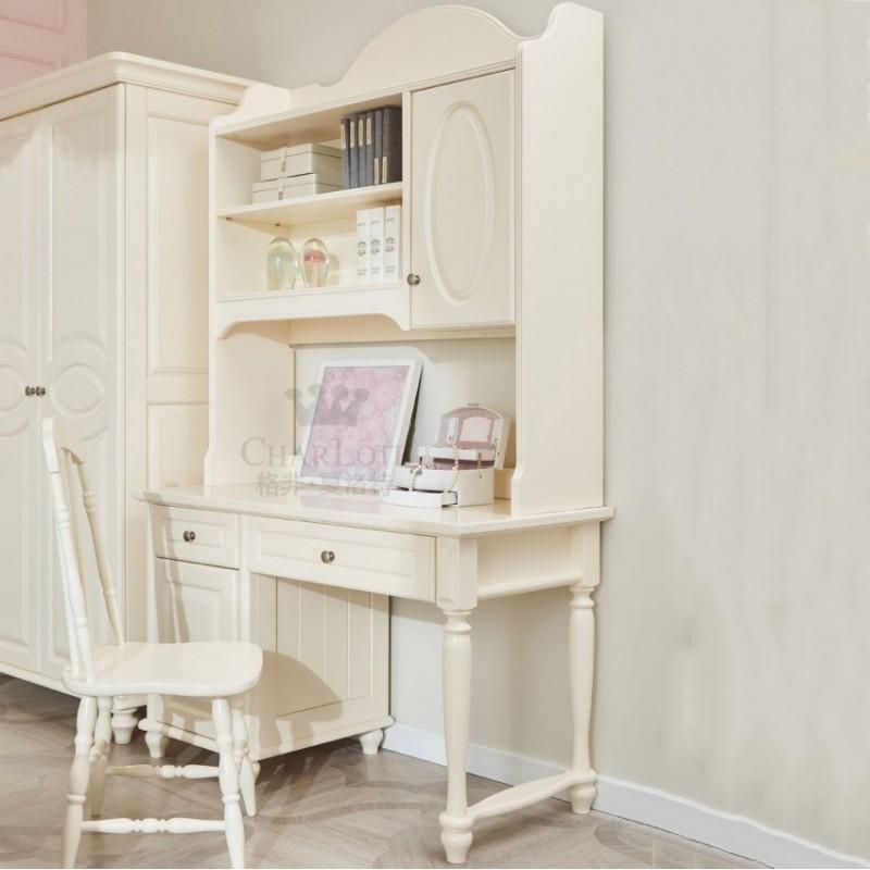 格非·夏洛特儿童实木家具书房77-XCJ-08 书架+XC-02 书桌