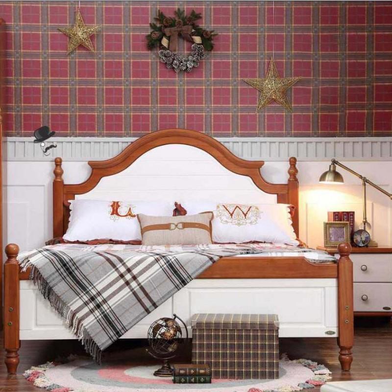 洛可小城儿童实木家具套房桃花芯木系列单人床衣柜床头柜学习桌F13