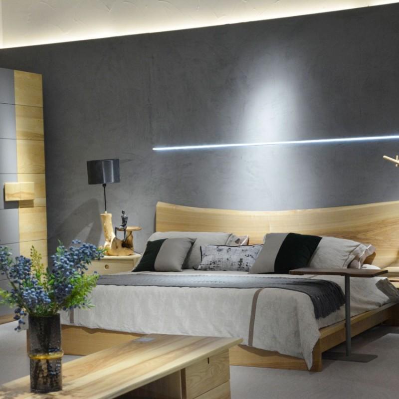 沐璨北欧风实木家具卧室实木大床1002床头柜装饰柜1304