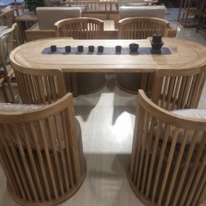 新中式免漆茶桌餐桌两用