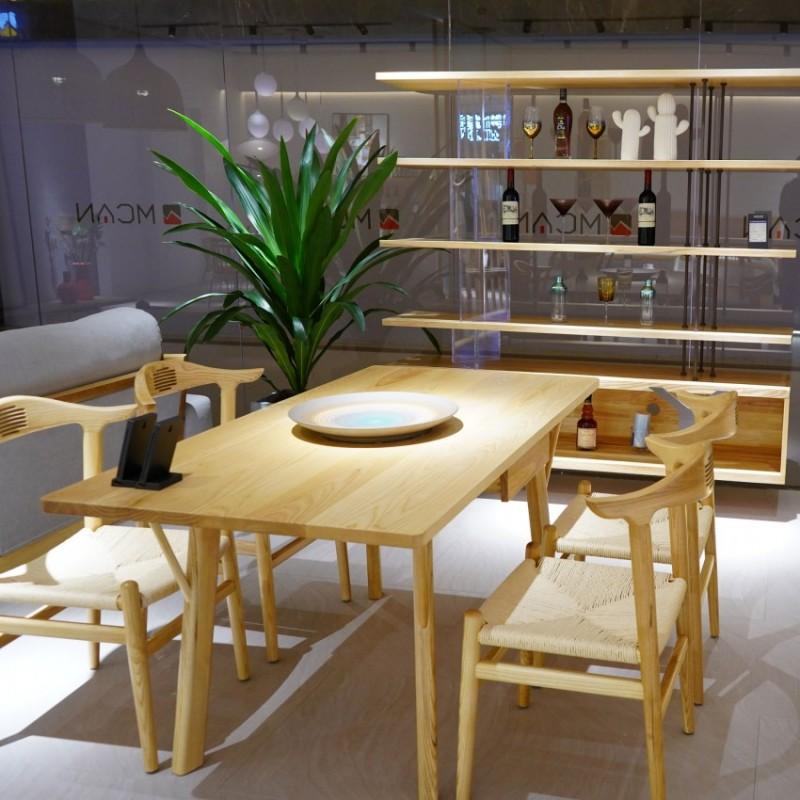 沐璨北欧风实木家具餐厅餐桌椅1