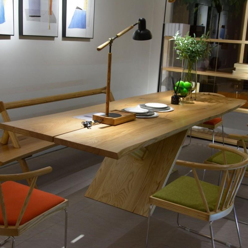 沐璨北欧风实木家具餐厅餐桌椅餐凳2