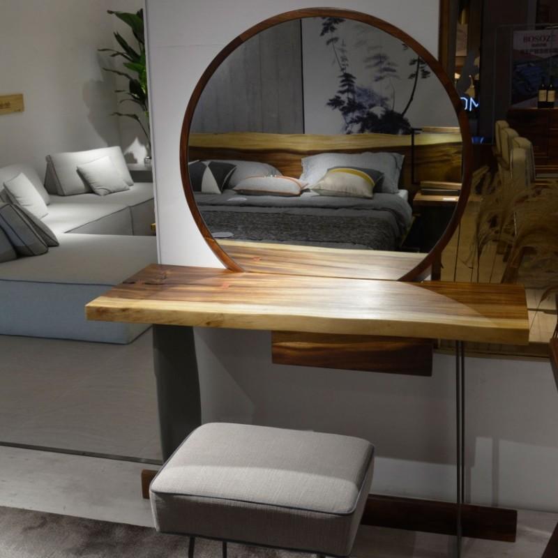 沐璨北欧风实木家具卧室梳妆台妆镜MC3001妆台