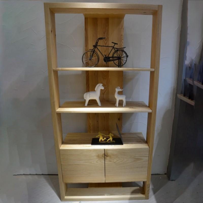 沐璨北欧风实木家具书房书架书柜MC4003书架
