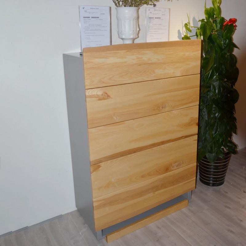 沐璨北欧风实木家具客厅卧室斗柜MC6001五斗柜