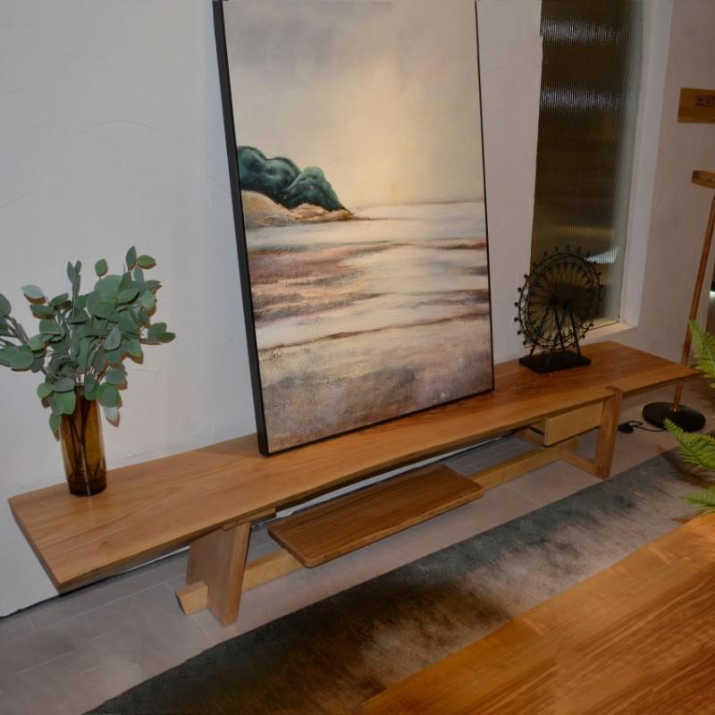 沐璨北欧风实木家具客厅电视柜地柜MC7007