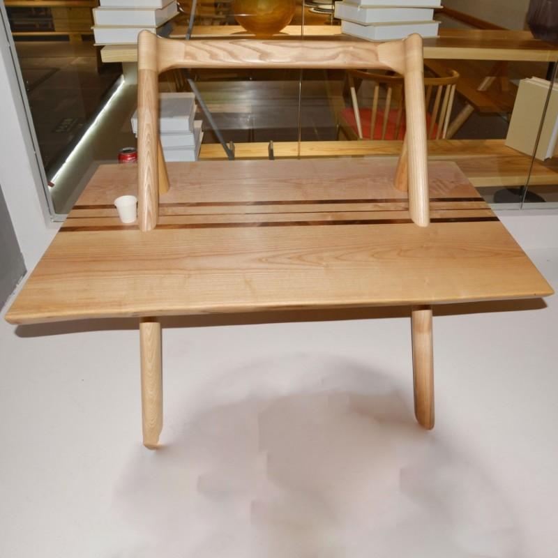 沐璨北欧风实木家具餐厅家具餐凳MC8301B长条椅