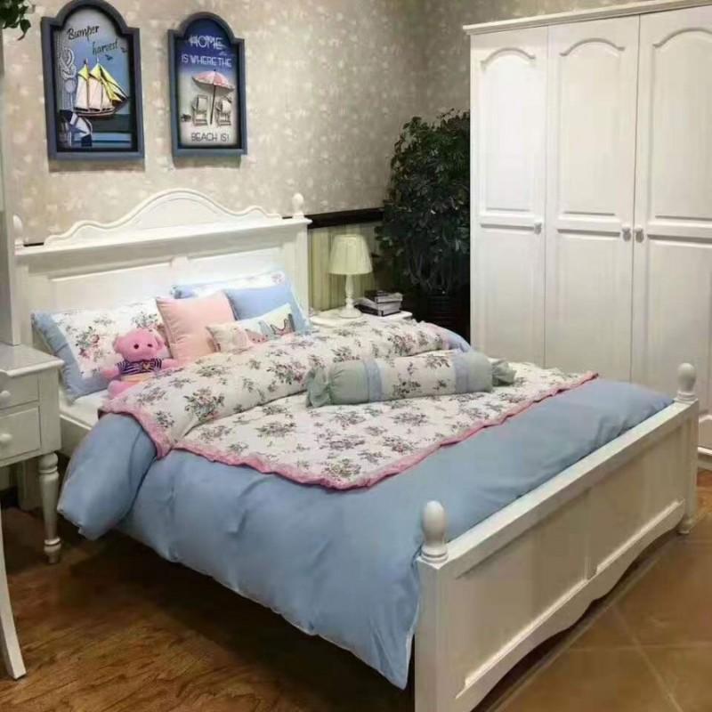卡默洛特儿童实木套房家具实木床衣柜学习桌KMA010