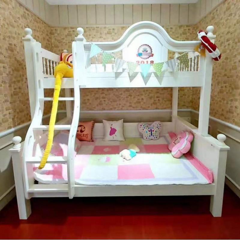 卡默洛特儿童实木套房家具实木床上下床扶梯款KMR012
