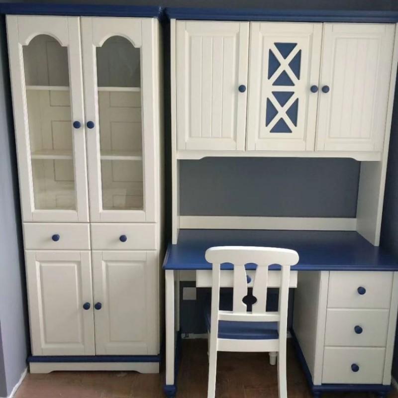 卡默洛特儿童实木套房家具儿童书桌椅KMS005+KMS011-2