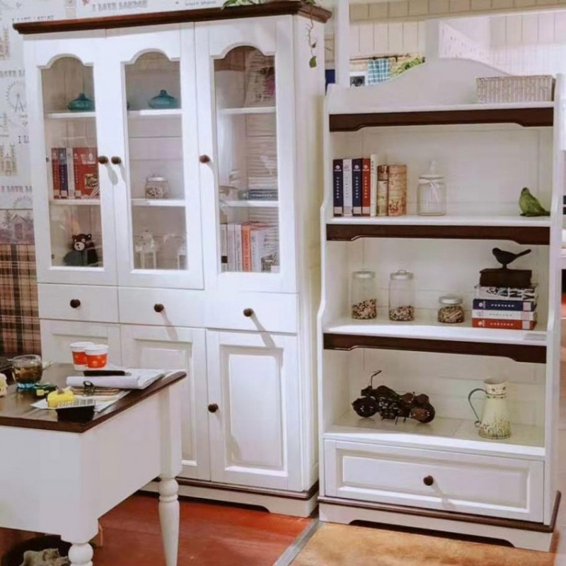 卡默洛特儿童实木套房家具儿童书桌椅KMS011-3+KMS012