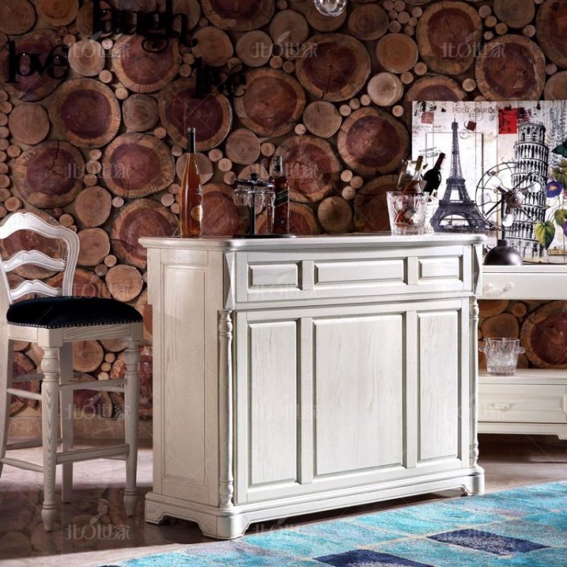 豪森北欧世家实木家具吧台吧椅J-701吧台+J-701吧椅MJ-7-36布+J-701B小餐边柜