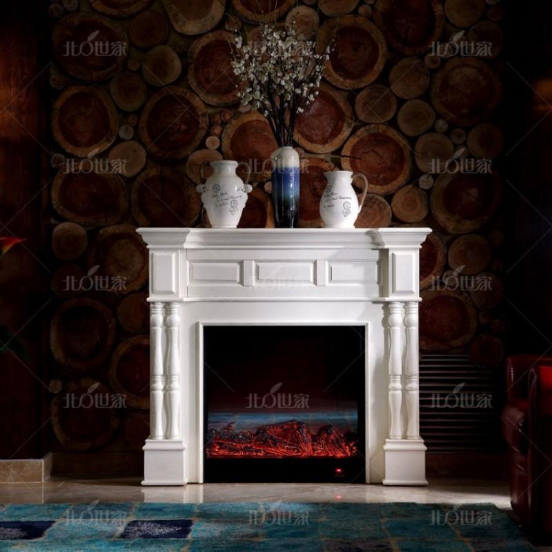 豪森北欧世家实木家具客厅壁炉J-701壁炉
