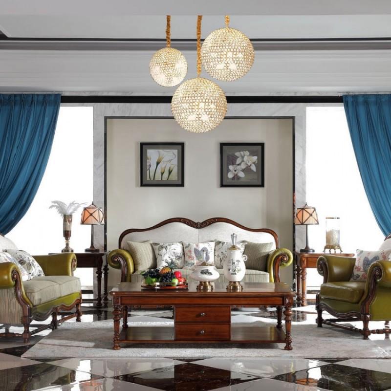豪森北欧世家实木家具客厅沙发组合J-707沙发6210皮全