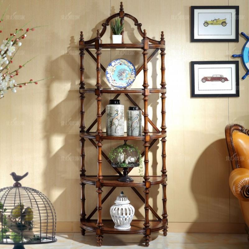 豪森北欧世家客厅电视柜组合柜J-701半圆饰品柜