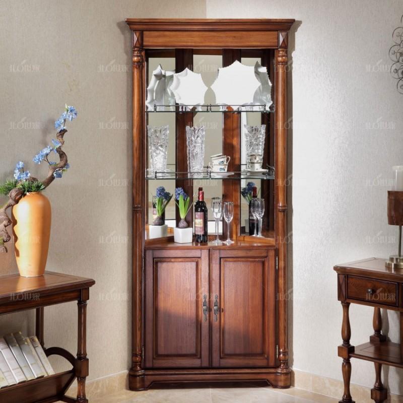 豪森北欧世家实木家具餐厅酒柜J-701三角酒柜