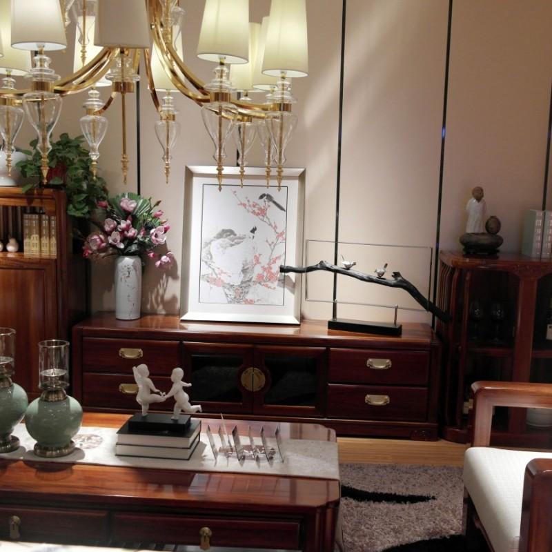 喜之林檀韵现代实木家具客厅电视柜组合柜边柜1