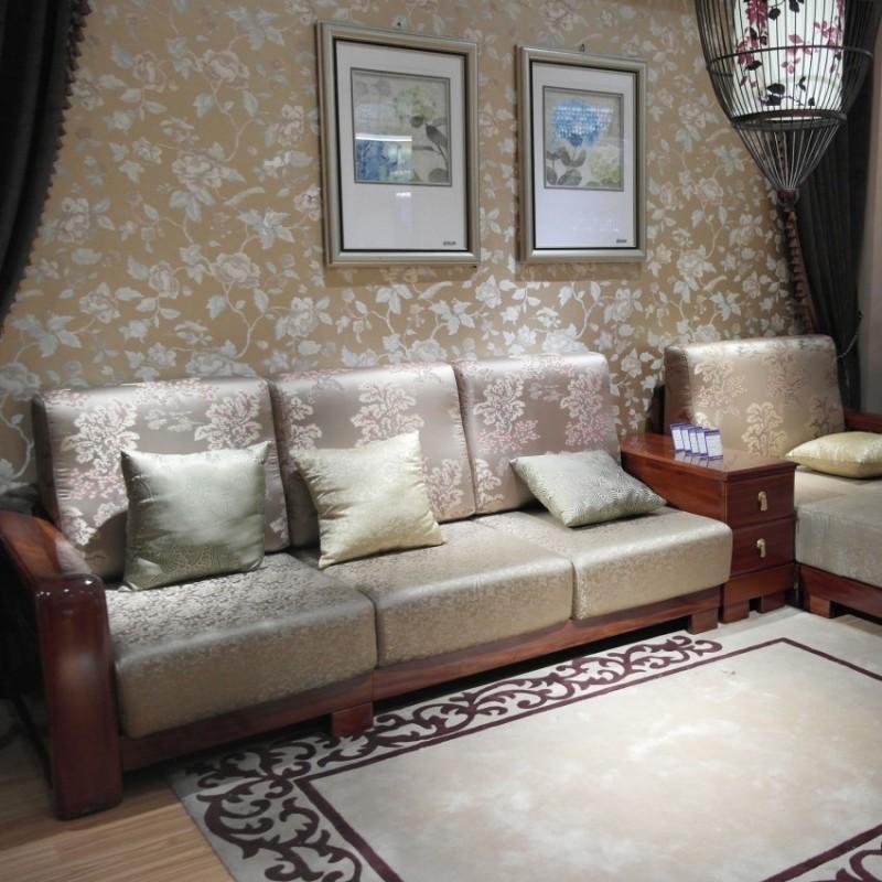 喜之林檀韵现代实木家具客厅沙发组合茶几2