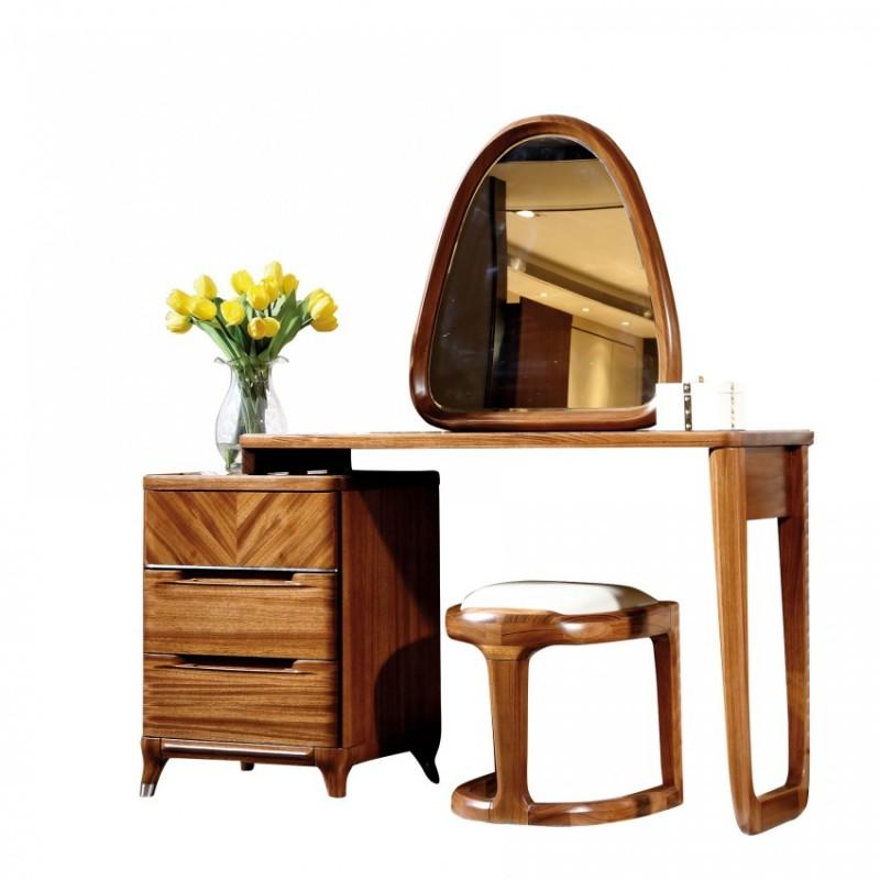 新桂铭悦池现代实木家具卧室梳妆台妆凳妆镜YCA01妆台