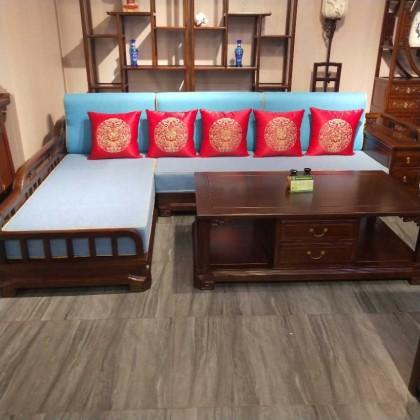 榆木新中式沙发
