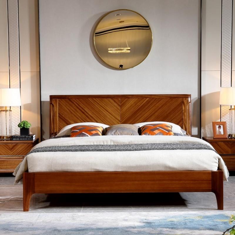 新桂铭悦池现代实木家具卧室实木大床床头柜YCA05床