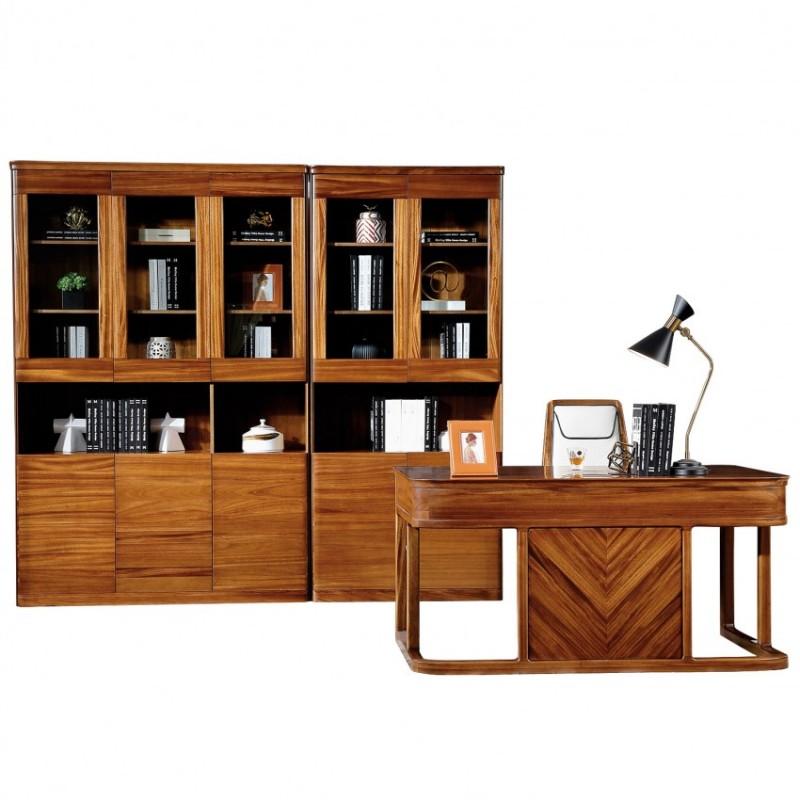 新桂铭悦池现代实木家具书房YCD02书房+YCD01书桌+YCD01书椅