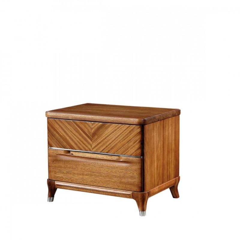 新桂铭悦池现代实木家具卧室YCA02床头柜