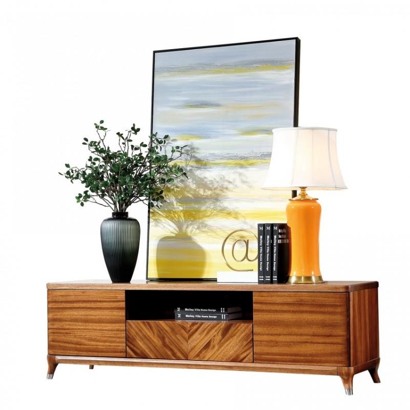 新桂铭悦池现代实木家具客厅YCB01电视柜
