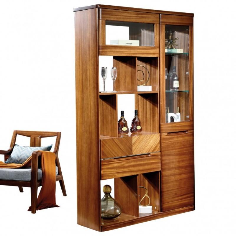 新桂铭悦池现代实木家具客厅YCB01间厅柜