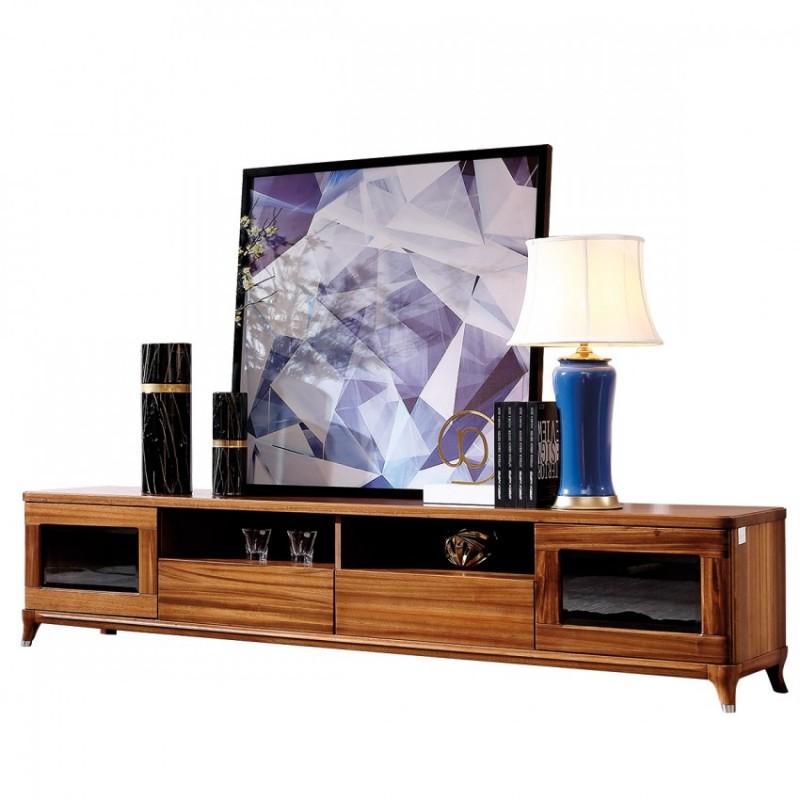 新桂铭悦池现代实木家具客厅YCB02电视柜