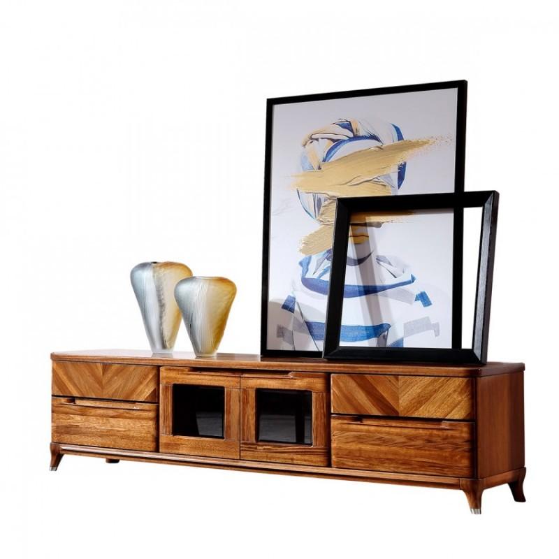 新桂铭悦池现代实木家具客厅YCB04电视柜