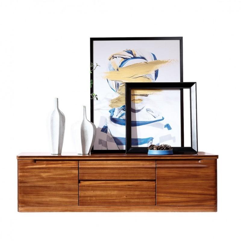新桂铭悦池现代实木家具客厅YCB05电视柜