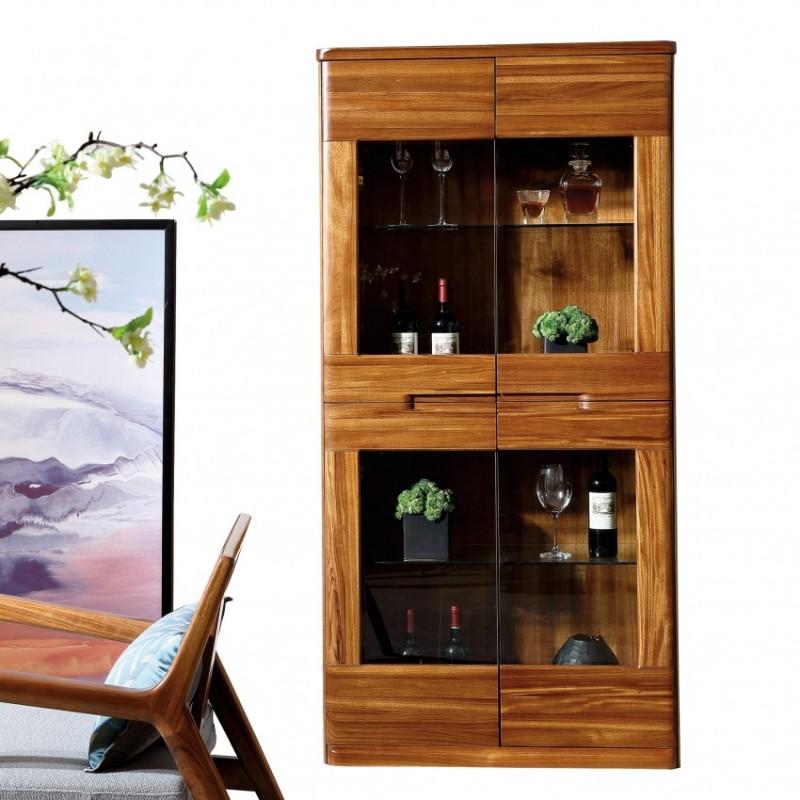 新桂铭悦池现代实木家具YCC01酒柜