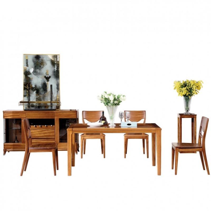 新桂铭悦池现代实木家具YCC04餐桌