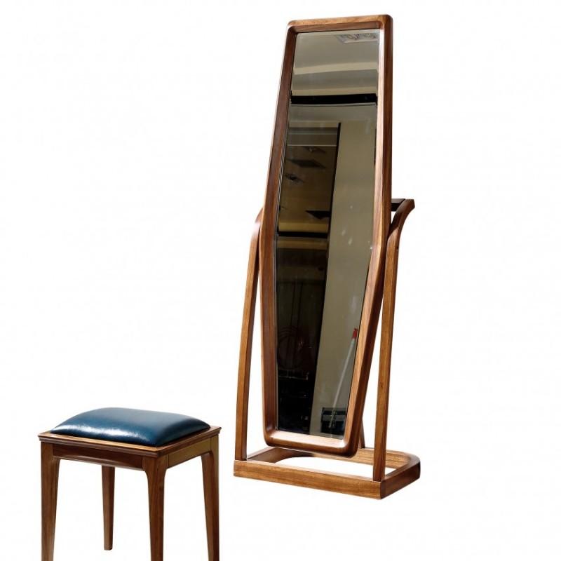 新桂铭悦池现代实木家具YCE01穿衣镜