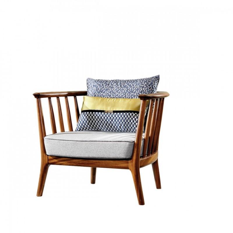 新桂铭悦池现代实木家具YCE02休闲沙发